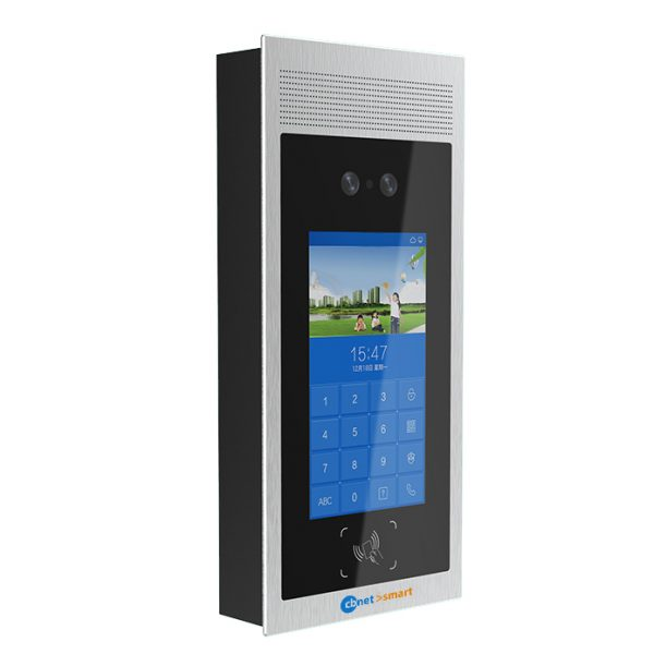 Android Outdoor Station with RFID, Face recognition CBNET SOS001 smart side
